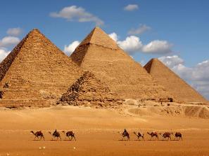 Gizeh, Egypte, pyramides, Le Caire